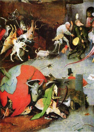 De verzoeking van St. Antonius, ca 1501 - Hiëronymus Bosch,
