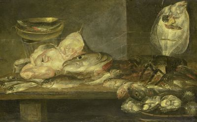 Alexander Adriaenssen. Stilleven met vis, 1660