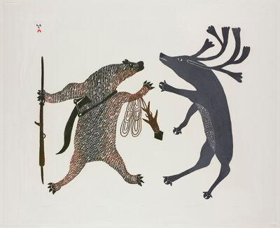 De Inuït Pudlo Pudlat groeide in de jaren vijftig uit tot een gevestigd kunstenaar in Canadese kunstkringen.