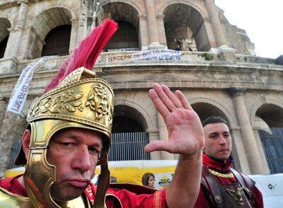 Echte centurions, aka toeristenvallen