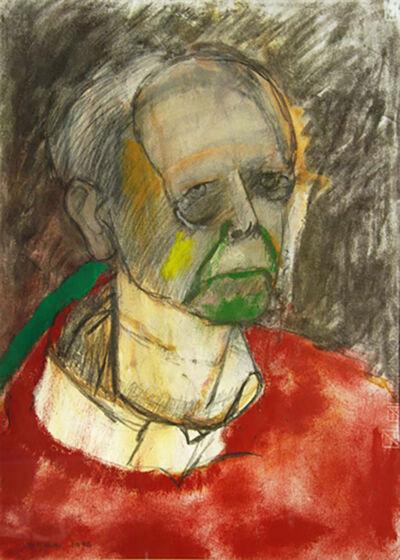 1996 self portrait red 465x330mm