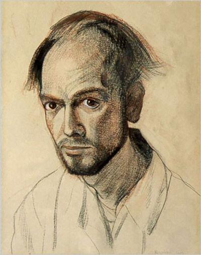1967 self portrait technique mixte sur papier 265x200mm