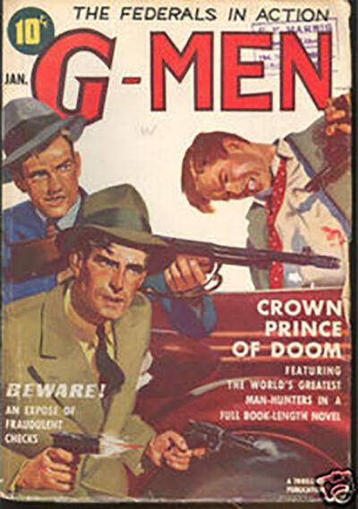 G-Men Magazine, 'Crown Prince of Doom', januari 1939
