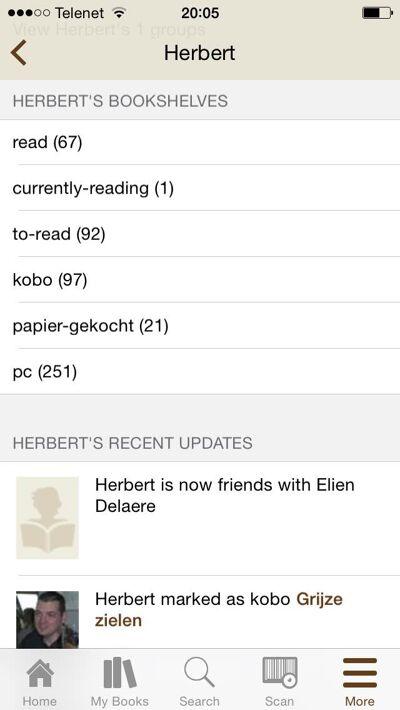 """""""In goodreads bundel ik onder andere mijn gelezen, 'must read', te lezen en online boeken."""""""