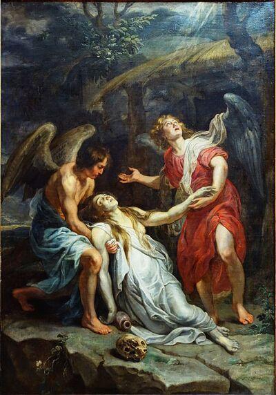 'Heilige Magdalena' van Peter Paul Rubens. Palais des Beaux -Arts de Lille. Ooit geroofd uit de Recolettenkerk in Gent.