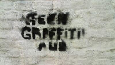 geen graffiti