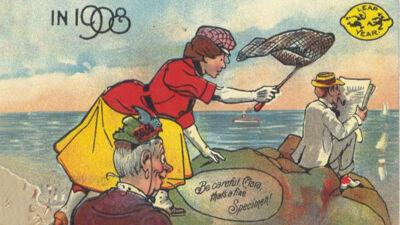 Leap year cartoon 1908