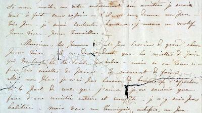 Brief van Charlotte Brontë aan Constantin Heger.