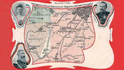 Postkaart met vierlandenpunt, 1901