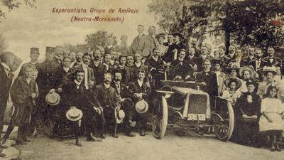 Esperantobijeenkomst in 1908 in Moresnet