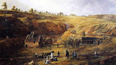 De zinkmijn Vielle Montagne in Kelmis, 1843