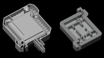 3D-tekeningen van de bunker