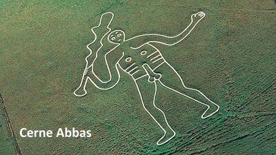 De reus van Cerne Abbas (Engeland)