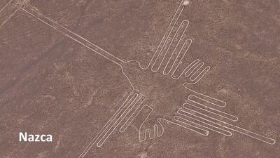 De kolibri van Nazca (Peru)
