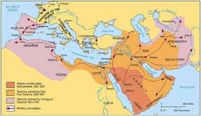 Het islamitische rijk 622-750