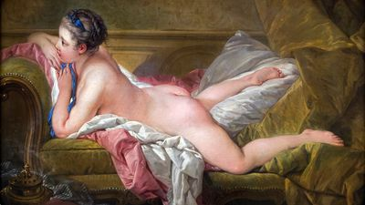 François Boucher: tweede versie van Jeune fille couchée (1752)
