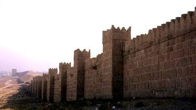 Nineve, heropgebouwde omwalling