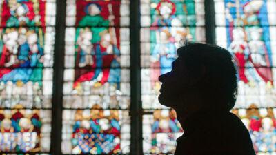 Dimitri in de kathedraal van Chartres