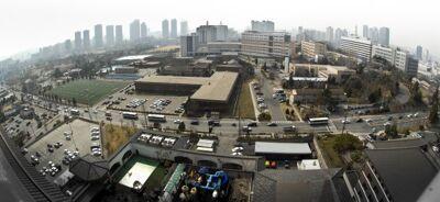 Een foto van het Yongsan Garrison