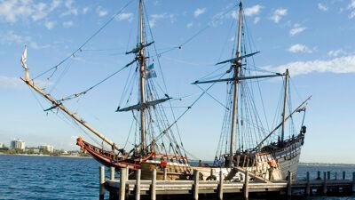 Replica van het schip 'Duyfken'