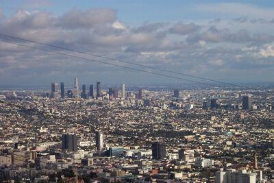 Een zicht op de stad Los Angeles