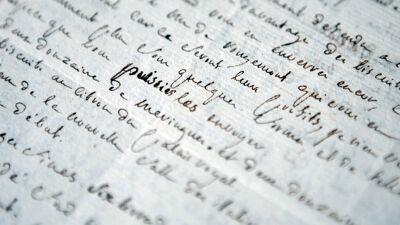 Brief van Markies de Sade