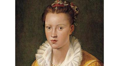 Santi di Tito: portret van een dame, mogelijk Catherine Gonsalvus-Raffelin