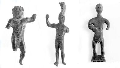 Drie offerbeeldjes: Jupiter, Mars en Mercurius