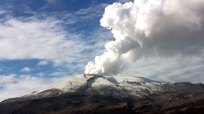 De vulkaan Nevado del Ruiz