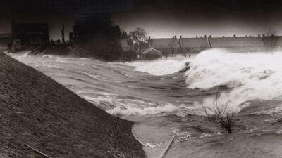 Dijkbreuk tijdens de watersnoodramp 1953