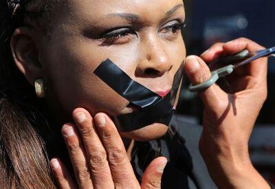 Journalisten betogen in Johannesburg