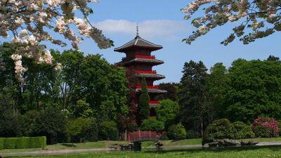 De Japanse Toren vanuit het Koninklijk Park