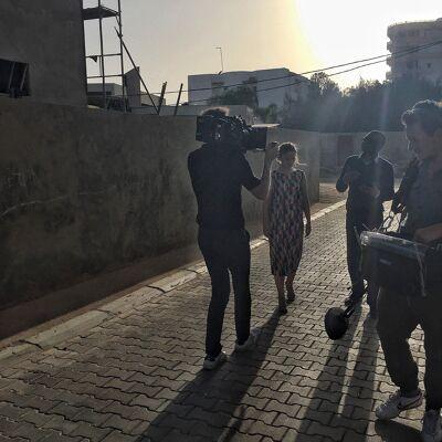 bij Youssou N'Dour in Dakar, Senegal
