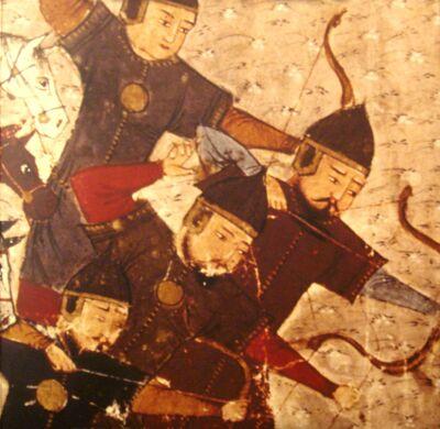 Mongoolse soldaten in het Jami' al-tawarikh