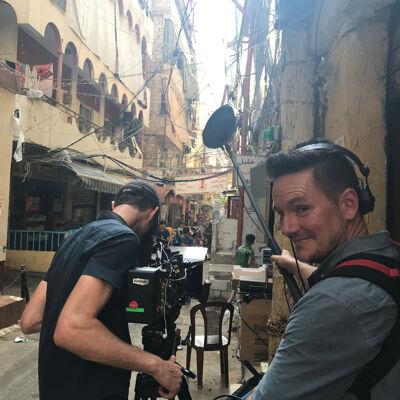 met Nelofer Pazira in Beiroet