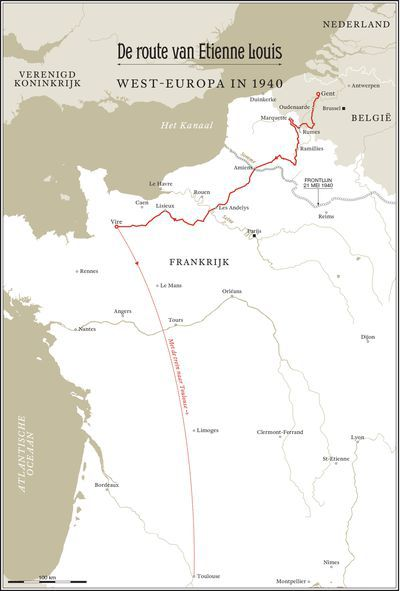 De route van Etienne Louis
