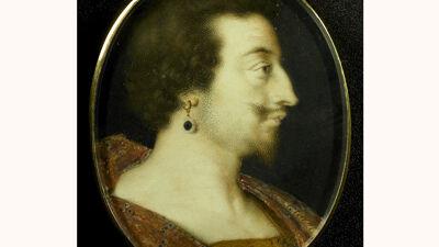 Portretmedaillon van de Duke of Buckingham (mét oorbel)