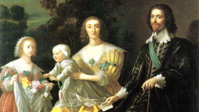 Gerard Van Honthorst: George Villiers, Duke of Buckingham, en zijn gezin
