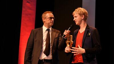Ivan De Vadder interviewt winnaar Ben Van Duppen.