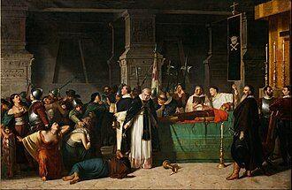 Dood van Atahualpa op 29 augustus 1533