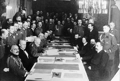 Ondertekening van de Vrede van Brest-Litovsk