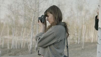 Lara Gasparotto tijdens haar reis naar Kiev