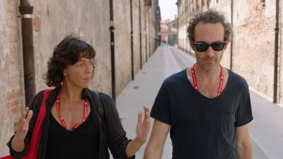 Lisbeth Gruwez en Maarten Van Cauwenberghe in Venetië.