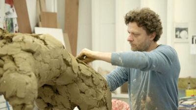 Anton Cotteleer in zijn atelier