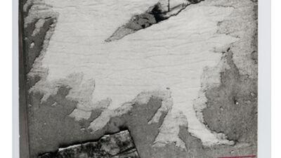 Foto van gescheurde affichewand