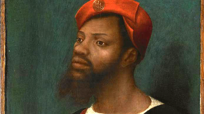 Jan Mostaert, Portret van een Afrikaanse man
