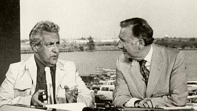 Paul Van Hoeydonck bij Walter Cronkite