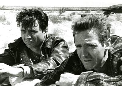 'In Cold Blood' werd verfilmd: Richard Brooks toverde het boek om tot een film. Op deze afbeelding zie je acteurs Robert Blake (links) en Scott Wilson (rechts).