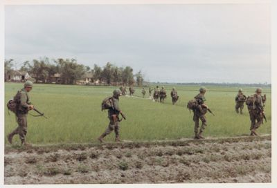 Amerikaanse patrouille 1st Cavalry Division 1968