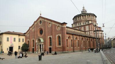 Voorgevel van de kloosterkerk